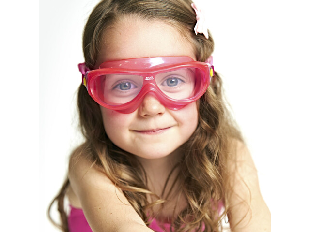 Zoggs Phantom Mask Kids Yellow/Pink/Clear